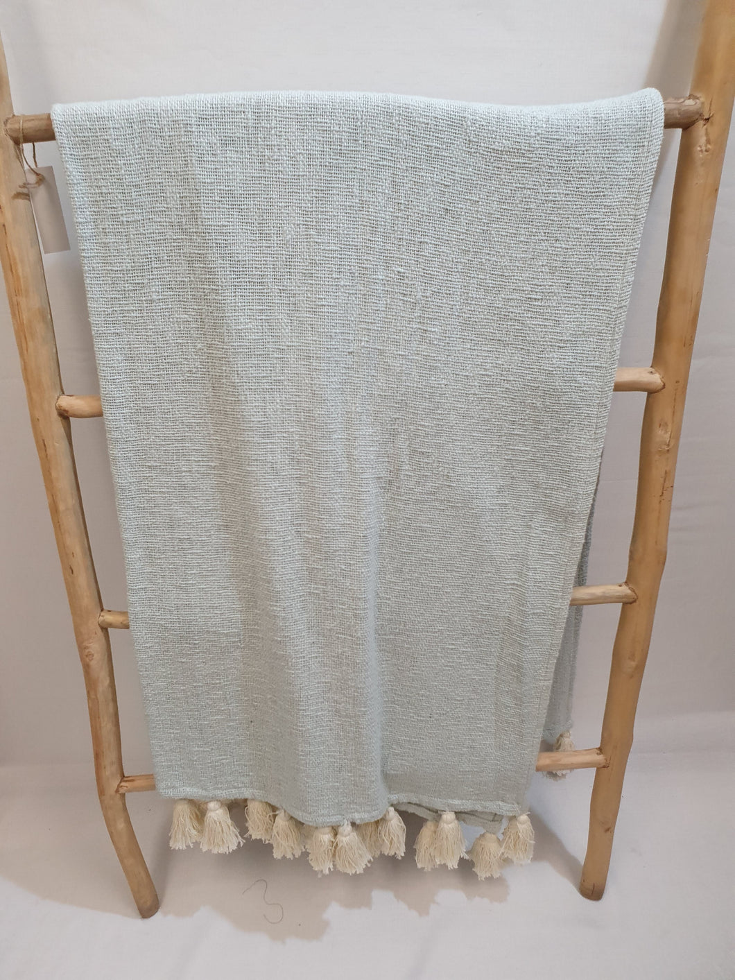 Light blue cotton Throw