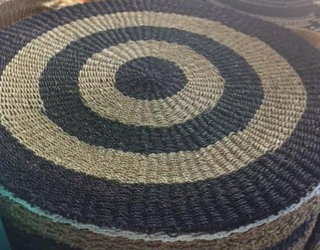 Round Patterned Mat (Black)