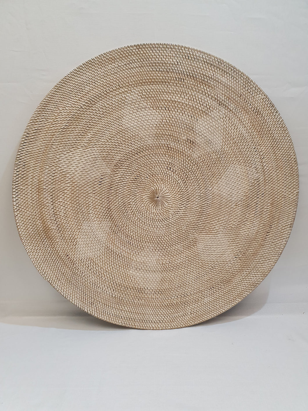 Large Cream Rattan Woven Wall Art/Serving Tray