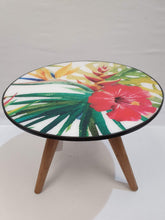 Load image into Gallery viewer, Hibiscus Wood and Resin Coffee Table with Three Legs