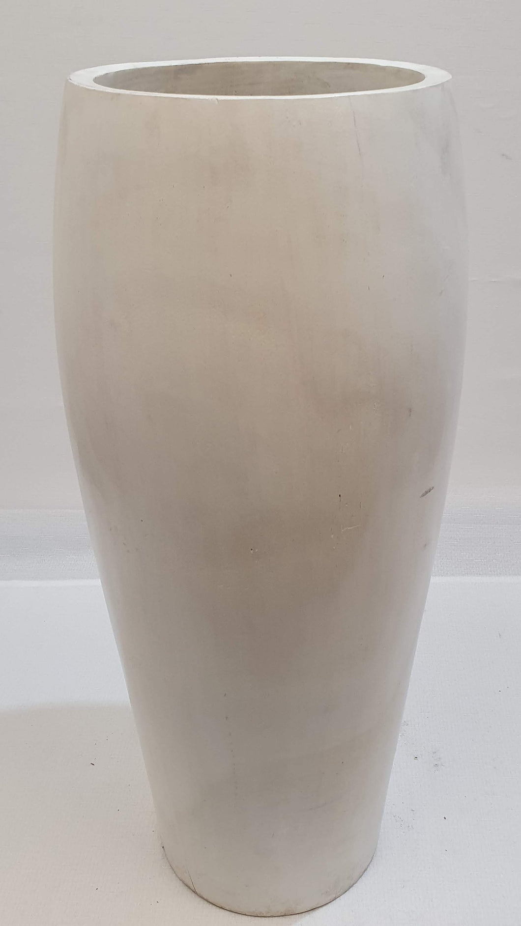 Tall White Wooden Pot
