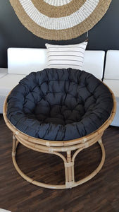 Papasan Occasional Swivel Chair