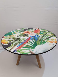 Birds of Paradise Resin Coffee Table