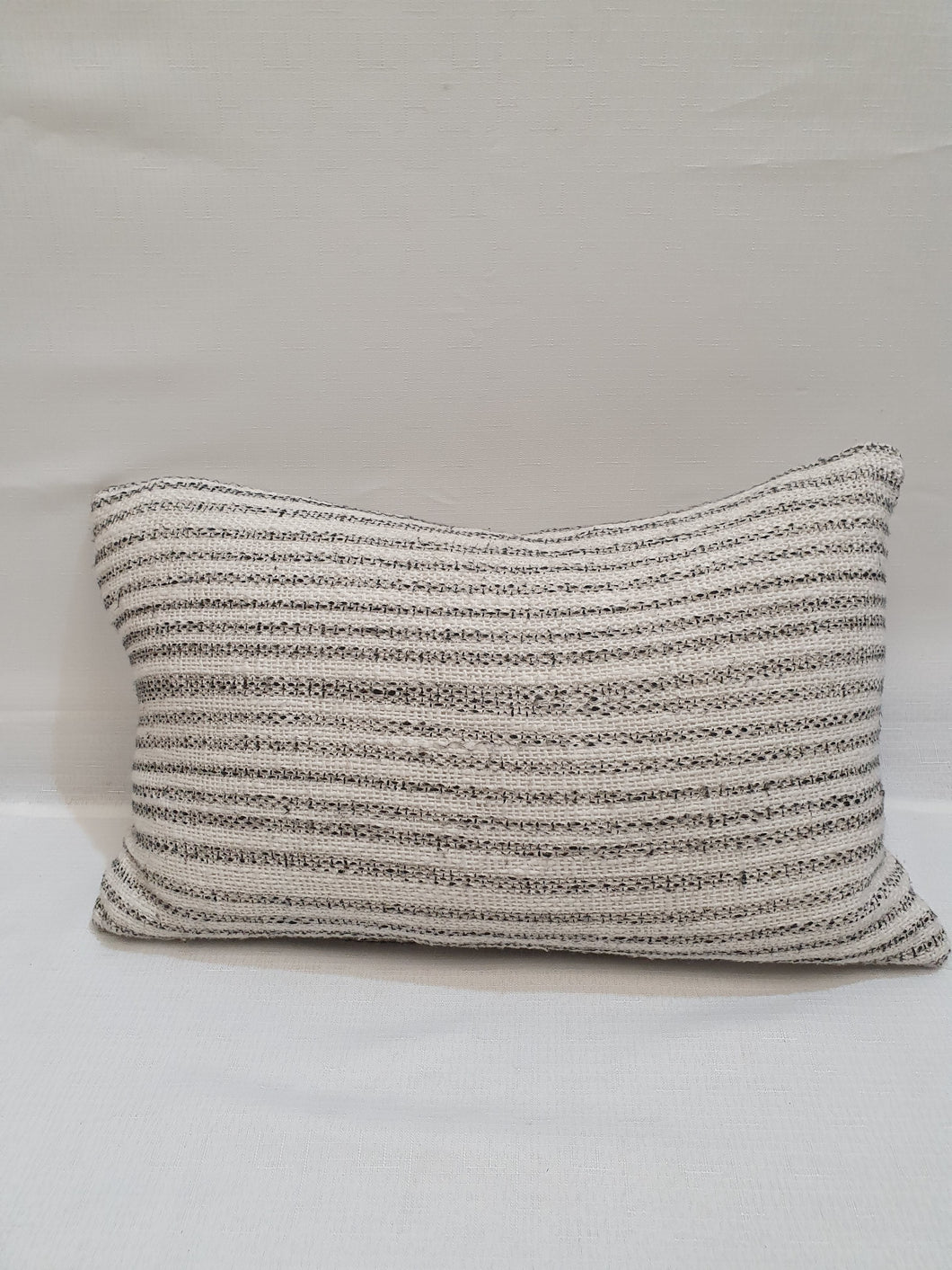Grey/Cream Thin Striped Cushion