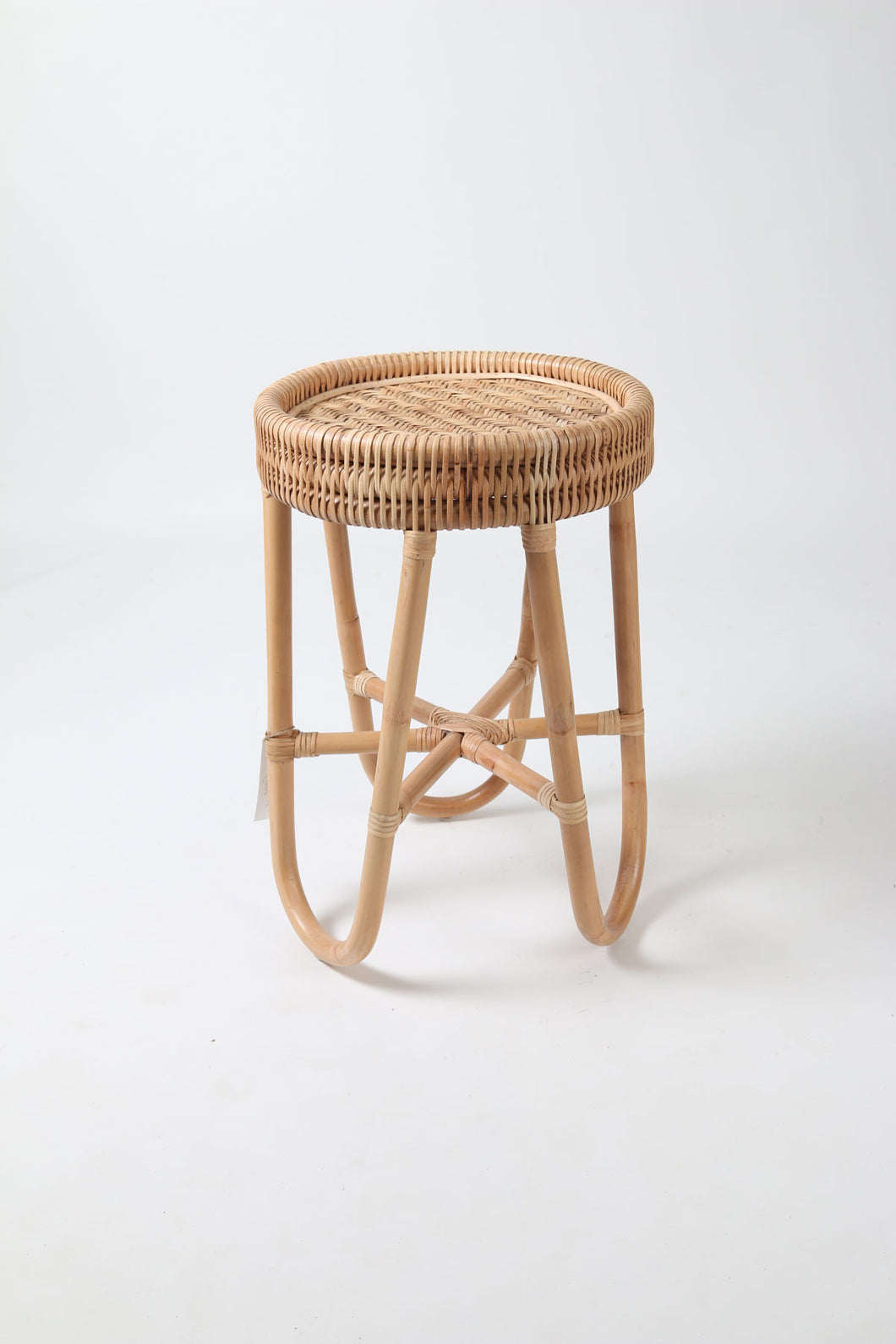 Sustainable Bamboo and Rattan Small Coffee Table