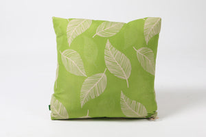 Outdoor Durable Cushion with Green Leaf Pattern