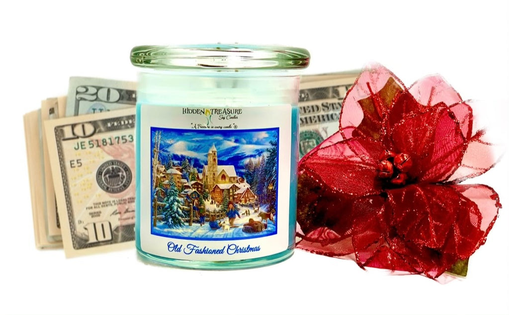 Old Fashioned Christmas Cash Candle