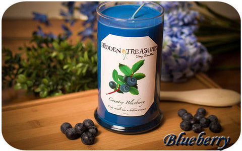 Country Blueberry Treasure Candle