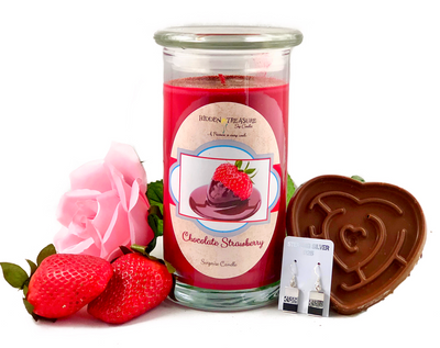 Chocolate Strawberry Surprise Candle / Bath Bomb Set