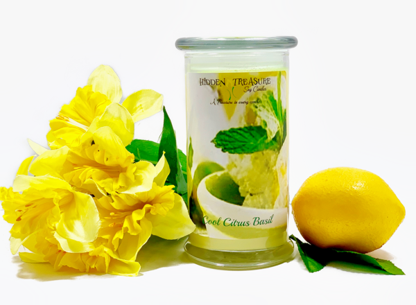 Cool Citrus Basil Surprise Candle