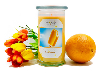 Orange Creamsicle Treasure Candle