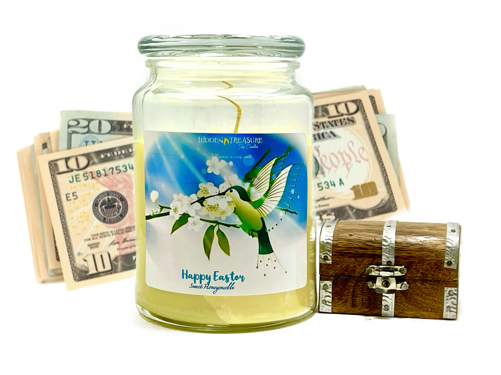 Happy Easter Cash Candle