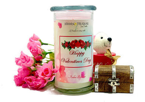 Happy Valentine Day Surprise Candle