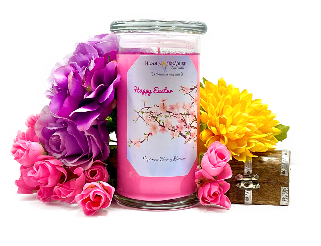 Happy Easter Treasure Candle