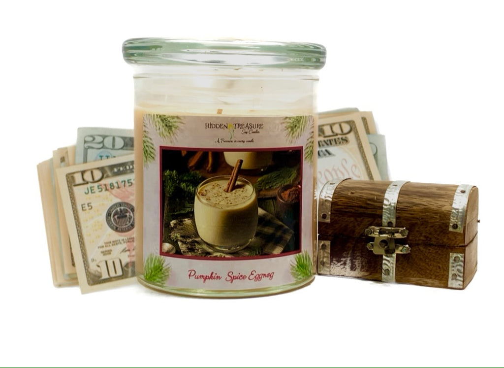 Pumpkin Spice Egg Nog Cash Candle