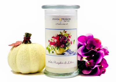 White Pumpkin Lilac Surprise Candle