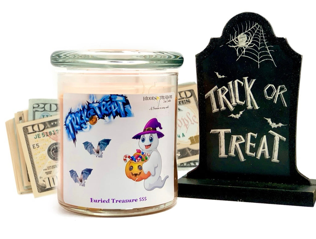 Trick or Treat Cash Candle