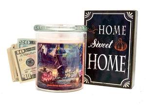 Home Sweet Haunted Home Cash Candle