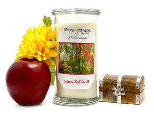 Warm Fall Walk Treasure  Candle