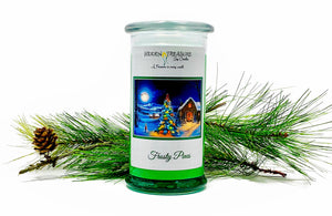 Frosty Pines Surprise Candle