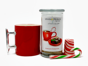 Chocolate Candy Cane Surprise Candle