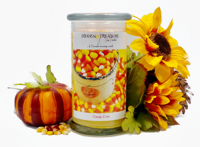 Candy Corn Surprise Candle