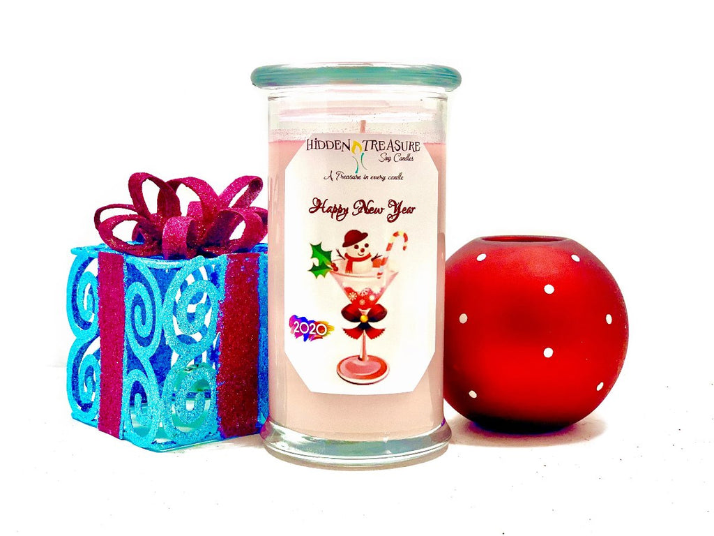Happy New Year Treasure Candle