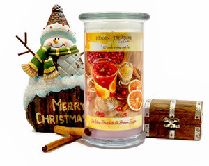 Holiday Bourbon and Brown Sugar Surprise Candle