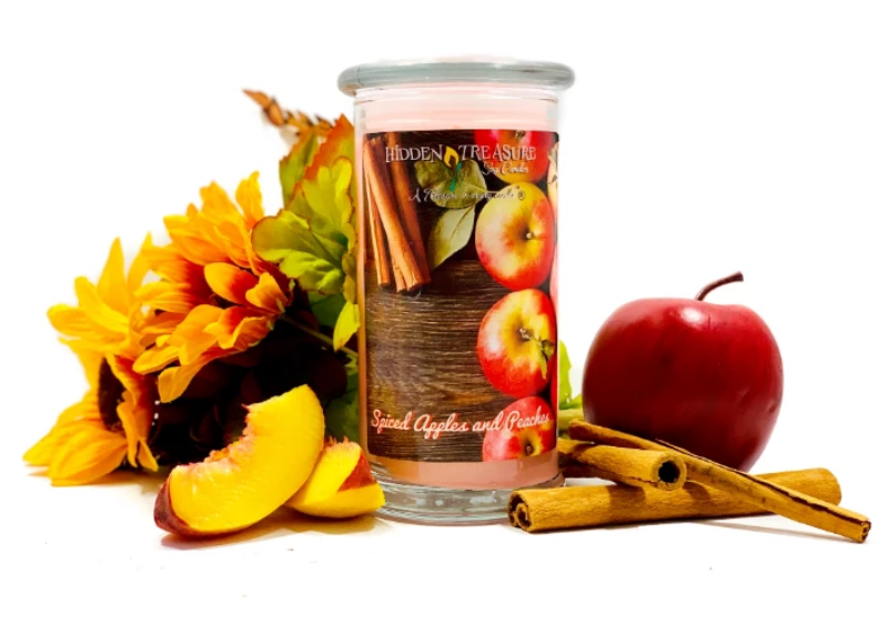 Spicy Apples and Peaches Surprise Candle