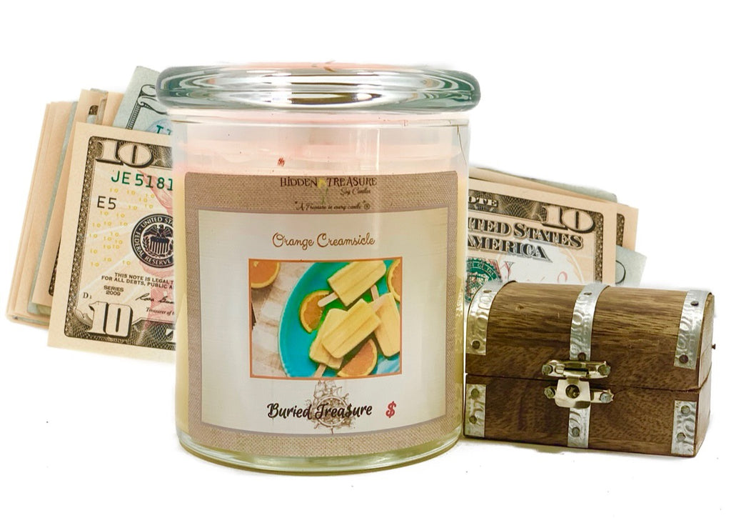 Orange Creamsicle Cash Candle