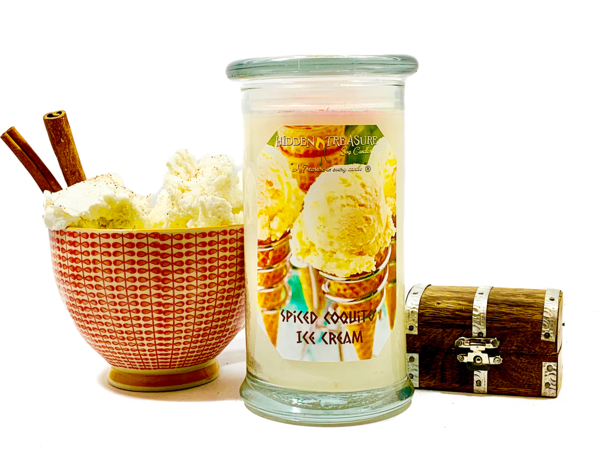 Spiced Coquito Ice Cream Treasure Candle