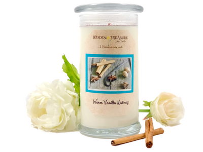 Warm Vanilla Nutmeg Surprise Candle