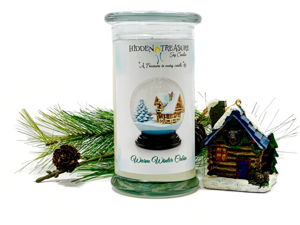 Warm Winter Cabin Surprise Candle