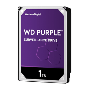 "WD 1TB - 64MB 3.5"" SATA 6Gb/s PURPLE - HDD WD10PURZ - ASME Store - Access & Security Middle East"