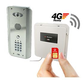 PRE2-4GE/ASK Architectural Stainless With Keypad 1 Button 4G GSM Video Intercom - ASME Store - Access & Security Middle East