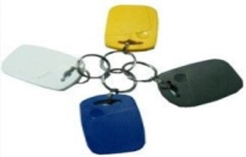 Contactless RFID(865-928 kHz) tag (keyfob), blue/white/yellow/black, plastic. - ASME Store - Access & Security Middle East
