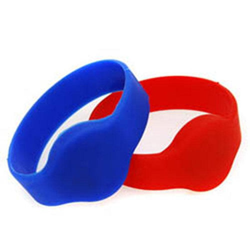 Contactless bracelet, standard EM Marin (125 kHz), black/red, rubber. 100pcs pack. - ASME Store - Access & Security Middle East