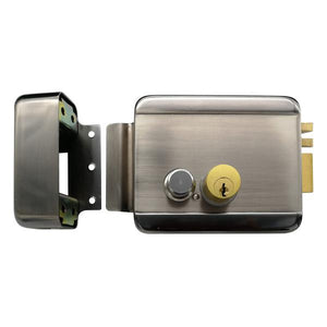 Electromechanical Latch lock, DC12V/800mA, 135x105x39,  - 20 °? ~ + 50 °?. PAL-EZ1 Silver - ASME Store - Access & Security Middle East
