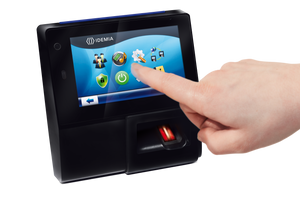 "MorphoAccess MA Sigma (iClass) Weather Resistant - Multi-factor Bio/HID iClass Card reader/PIN/BioPIN with 5"" colour touchscreen, HID iClass Card Reader, keypad with Time & Attendance features, Tablet-like user experience, Videophone function - ASME Store - Access & Security Middle East"