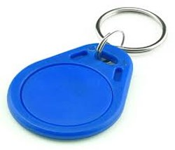 RFID Key Tag, EM Marin (125 kHz), 41x32x4.2mm, blue, plastic. 100pcs pack. - ASME Store - Access & Security Middle East