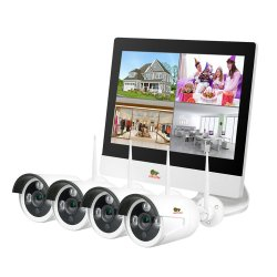 Outdoor Wireless Kit LCD 2MP 4xIP v1.0 - Inside the Kit: 1. Wi-Fi NVR (2.0 Wi-Fi IP NVR with built-in-in LCD display 10