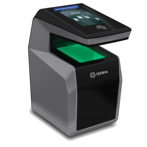 MorphoWave Compact MDPI Frictionless biometric access solution with embedded: Mifare, Desfire, Prox, IClass reader, Time & Attendance features. 4 Finger Touchless Acquisition & Matching, 1:10K Users , IP 65, POE +, 1:N identification capability - ASME Store - Access & Security Middle East