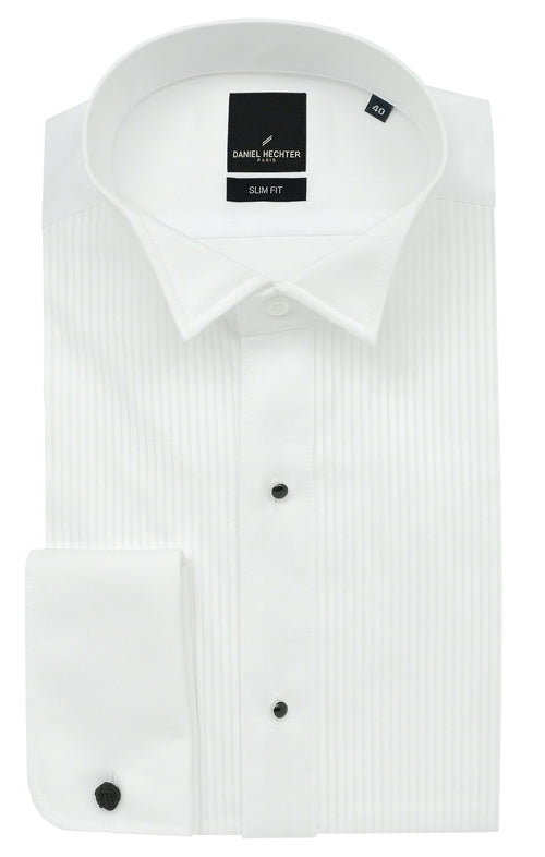 Daniel Hechter Wing Stud White Dinner Shirt