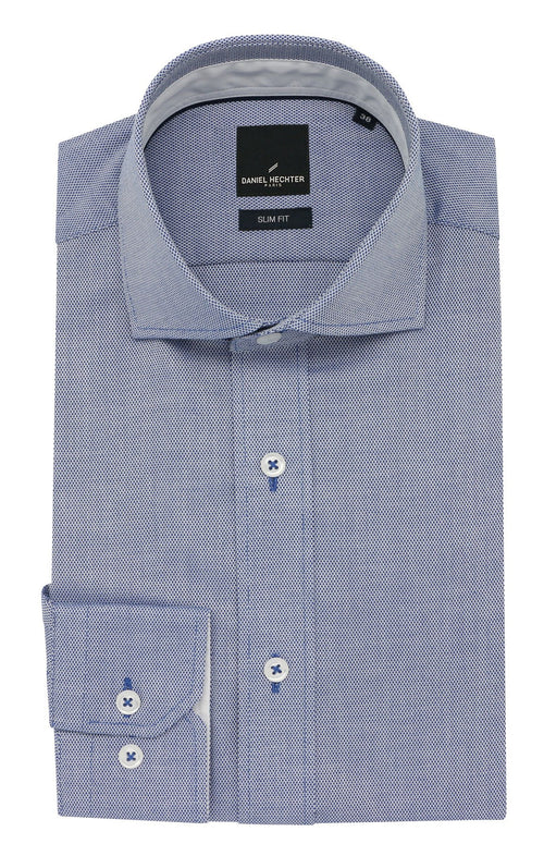 Jacque Business Blue Textured Shirt
