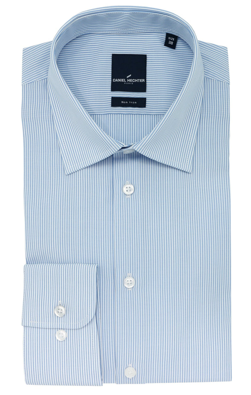 Daniel Hechter Shape Business Blue Stripe Cotton Shirt