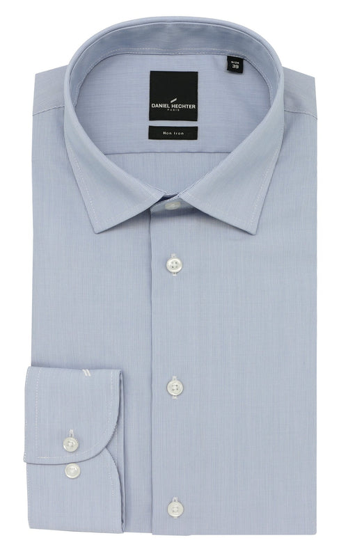 Daniel Hechter Shape Business Blue Micro-Stripe Shirt