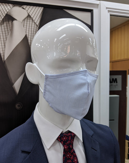 Light Blue Re-Usable 100% Cotton Masks