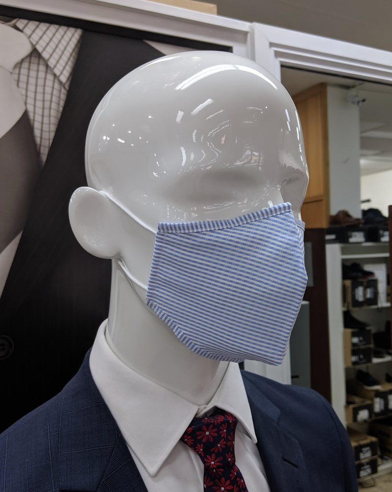 Blue Stripe Re-Usable 100% Cotton Masks