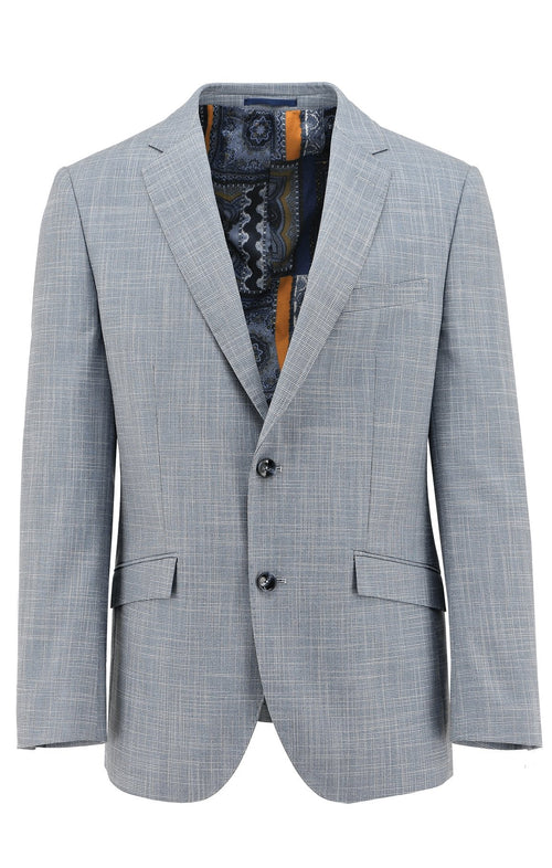 Royale Light Blue Textured Sports Jacket