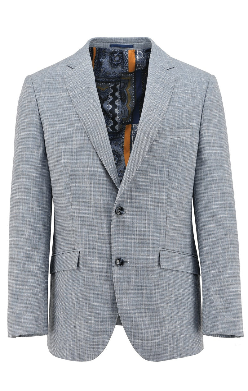 Royale Light Blue Textured Sports Jacket - 100